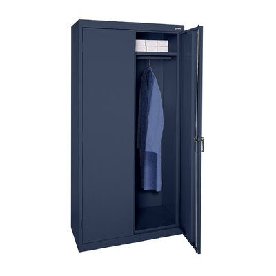 Wardrobe Cabinet Armoire Finish: Navy Blue, Size: 78 H x 36 W  x  24 D