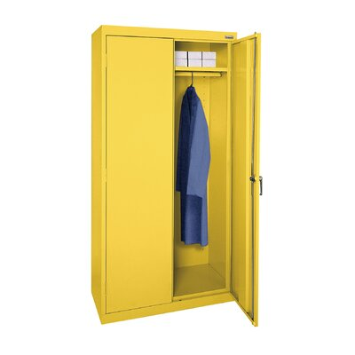 Wardrobe Cabinet Armoire Finish: Yellow, Size: 78 H x 36 W  x  24 D