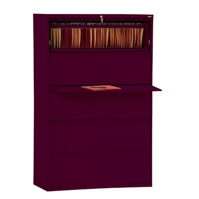 800 Series 5-Drawer File Finish: Burgundy Product Picture 3012
