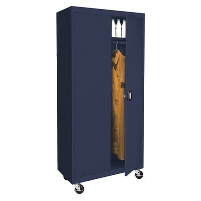 Transport Mobile Armoire Size: 78 H x 36 W  x  24 D, Finish: Navy Blue