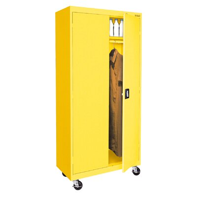 Transport Mobile Armoire Size: 78 H x 36 W  x  24 D, Finish: Yellow