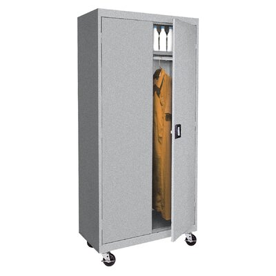 Transport Mobile Armoire Size: 78 H x 46 W  x  24 D, Finish: Multi Granite