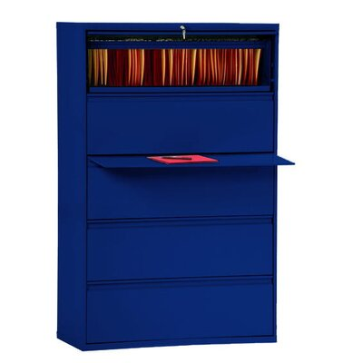 800 Series 5-Drawer File Finish: Navy Blue Product Picture 3012