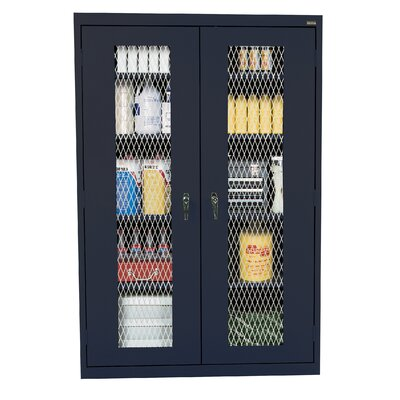 Classic 2 Door Storage Cabinet Finish: Navy Blue Product Picture 3012