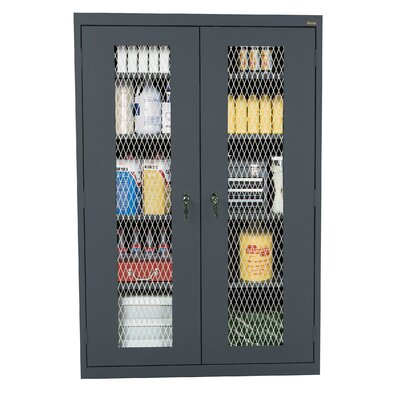 Classic 2 Door Storage Cabinet Finish: Charcoal Product Picture 3012