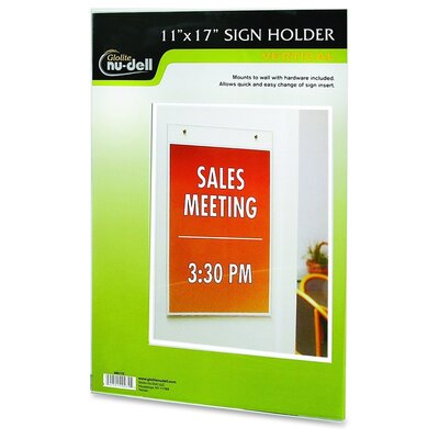 Vertical Wall Sign Holder