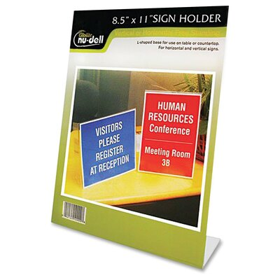 One-Piece Vertical Sign Holder