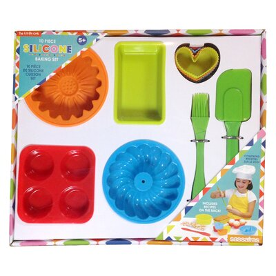 10 Piece The Little Cook Silicone Bakeware Set 22225