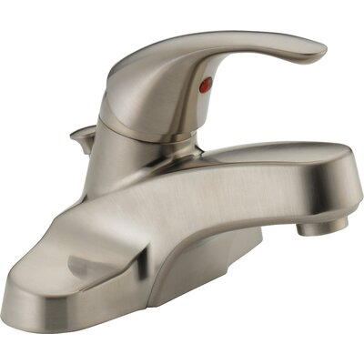 Lavatory Faucet Single Handle with Drain Assembly Finish: Brushed Nickel