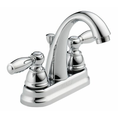 Standard Centerset Bathroom Faucet Double Handle Finish: Chrome