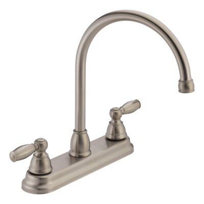 Apex Double Handle Kitchen Faucet Finish: Stainless