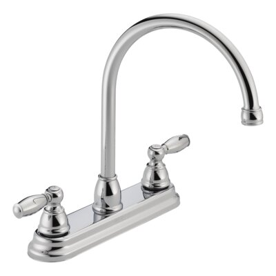 Apex Double Handle Kitchen Faucet Finish: Chrome