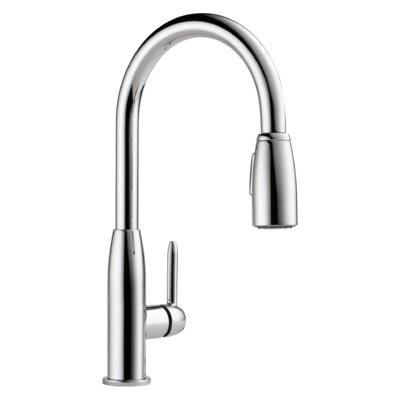Apex Single Handle Pull Down Kitchen Faucet Finish: Chrome