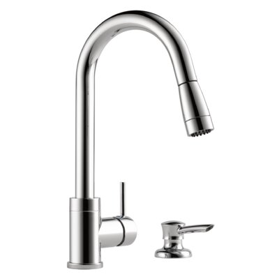 Apex Integrated Pull Down Kitchen Faucet with Soap Dispenser