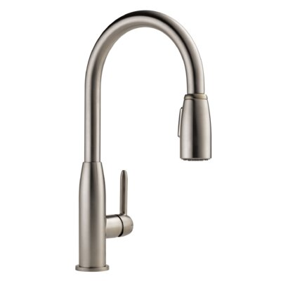 Apex Single Handle Pull Down Kitchen Faucet Finish: Stainless