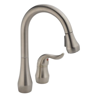 Apex Widespread Pull Down Kitchen Faucet Finish: Stainless