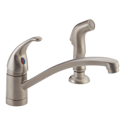 Choice Single Handle Kitchen Faucet with Matching Side Spray Finish: Stainless
