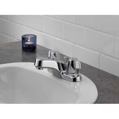 Core Double Handle Bathroom Faucet with Drain Assembly