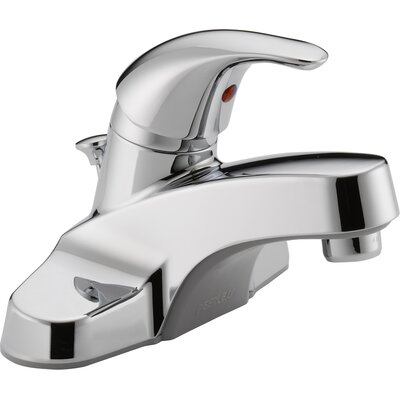 Centerset Bathroom Faucet with Single Handle Finish: Chrome, Optional Accessories: Plastic