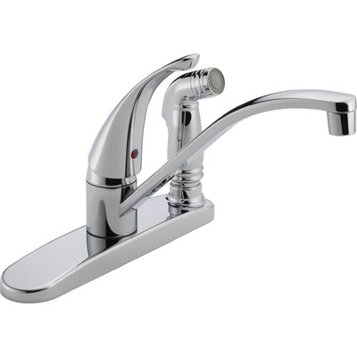 Single Handle Centerset Deck Mounted Kitchen Faucet with Side Spray