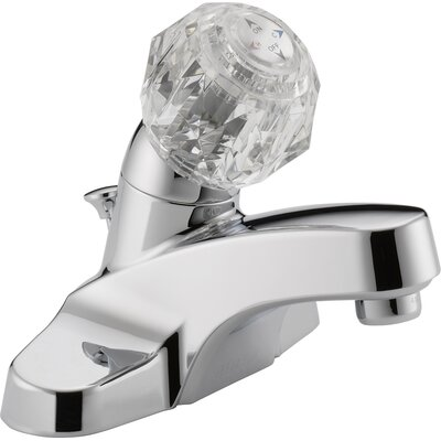 Centerset Bathroom Faucet with Double Push Tilt Handle