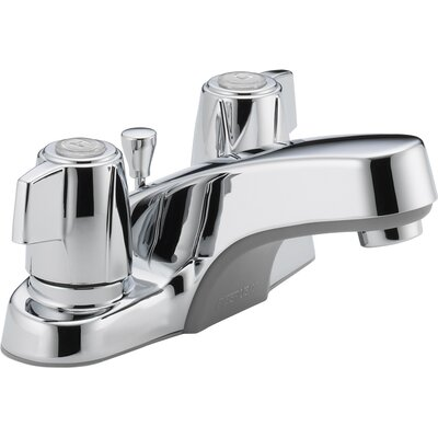 Lavatory Faucet Double Handle with Drain Assembly Finish: Chrome