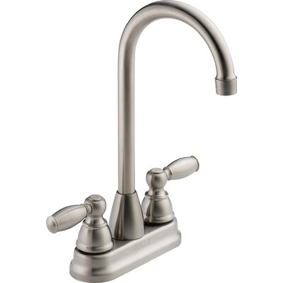 Double Handle Kitchen Faucet Finish: Stainless Steel