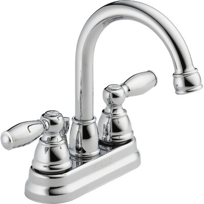 Centerset Bathroom Faucet with Double Handles Finish: Chrome