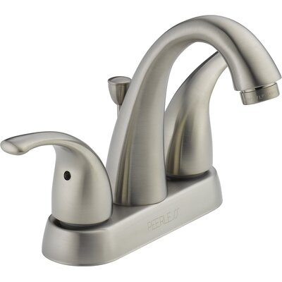 Centerset Bathroom Faucet with Double Handles Finish: Brushed Nickel