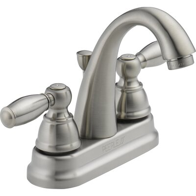 Standard Centerset Bathroom Faucet Double Handle Finish: Brushed Nickel