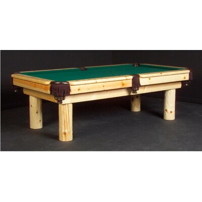 Northwoods Billiards Norway Pool Table - Finish: Clear Lacquer, Size: 8' (Standard Size), Felt Color: Wine at Sears.com