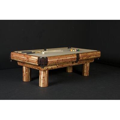 Northwoods Billiards 8' Red Cedar Pool Table - Felt Color: Wine, Finish: Red Cedar