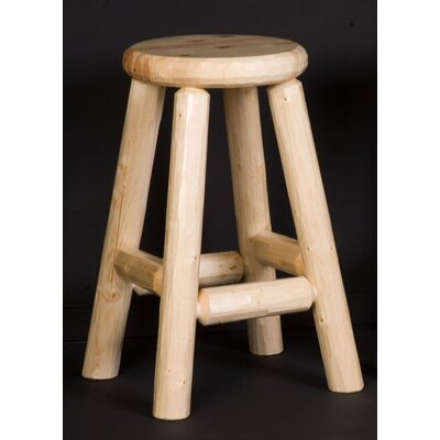 Easy financing Log Pub Stool Finish: Honey Pine...