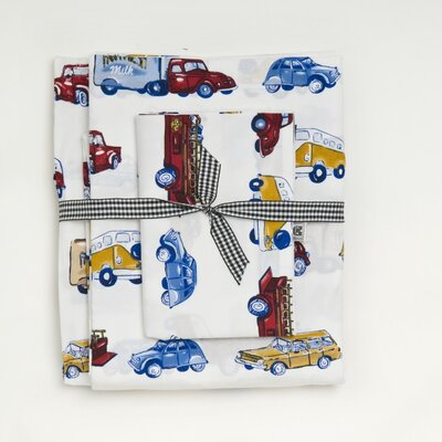 Whistle and Wink Cars and Trucks 240 Thread Count Sheet Set at Sears.com