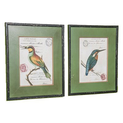 Exotic Bird 2 Piece Painting Print Set