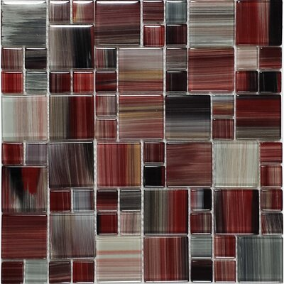 Contempo Abbott Random Sized Glass Mosaic Tile in Multi
