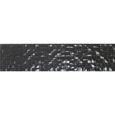 Cubale 3 x 12 Glass Mosaic Tile in Charcoal