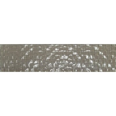 Cubale 3 x 12 Glass Mosaic Tile in Summer Wheat