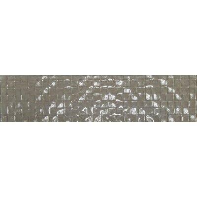 Cubale 3 x 12 Glass Mosaic Tile in Summer Wheat