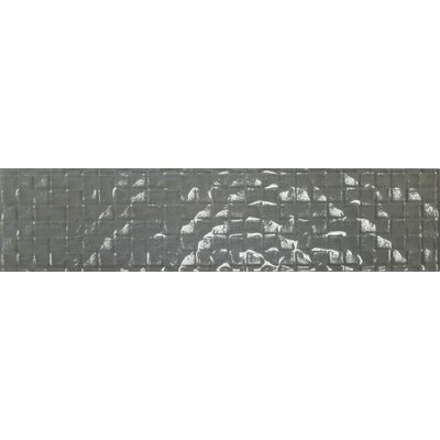 Cubale 3 x 12 Glass Mosaic Tile in Winter Gray