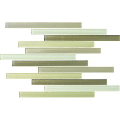 Narrows 1 x 12 Glass Mosaic Tile in Bay Leaf