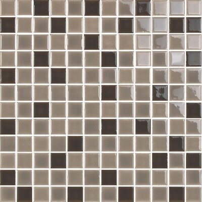New Blendz 1 x 1 Glass Mosaic Tile in Chocolate