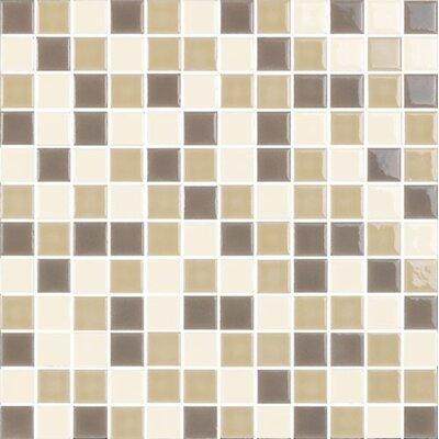 New Blendz 1 x 1 Glass Mosaic Tile in Caramel