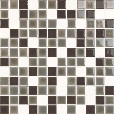 New Blendz 1 x 1 Glass Mosaic Tile in Vanilla Bean