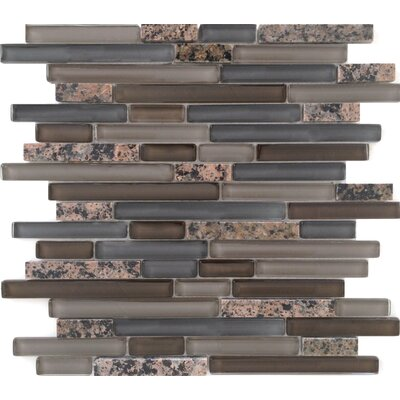 Random Sized Stone and Glass Mosaic Tile in Tropical Brown Mixed