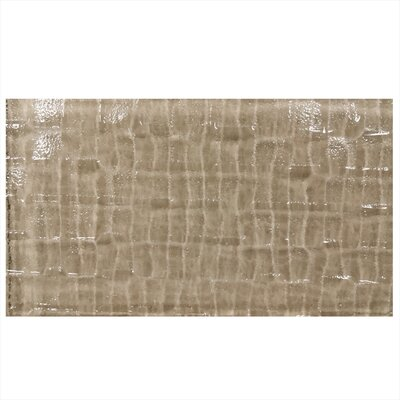 Grid Textured 6 x 3 Glass Subway Tile in Brown