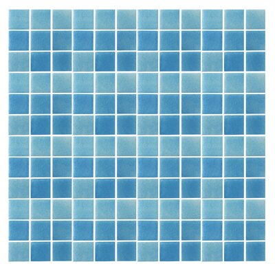 Spongez 1 x 1 Glass Mosaic Tile in Frosted Blue
