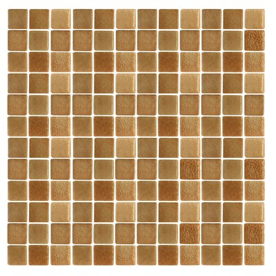 Spongez 1 x 1 Glass Mosaic Tile in Frosted Brown