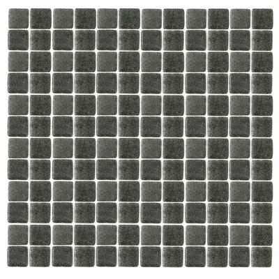 Spongez 1 x 1 Glass Mosaic Tile in Black