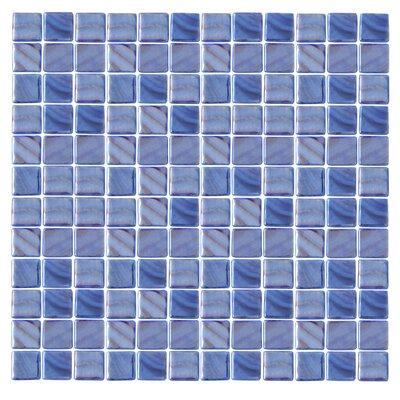 Iridescentz 1 x 1 Glass Mosaic Tile in Blue